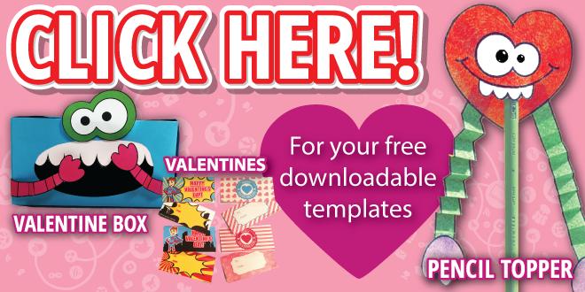 Banner linking to Free Valentines Downloads